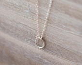 Tiny Eternity Circle Necklace - Sterling Silver  - Simple Everyday Necklace - Layering Necklace - Forever Necklace - Mother's Day Gift