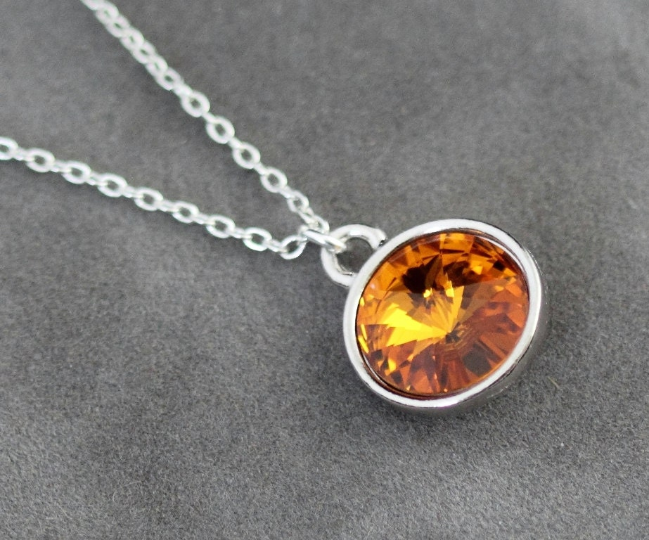 Topaz Necklace November Birthstone Necklace Crystal Topaz