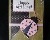 Happy Birthday Ladybug card