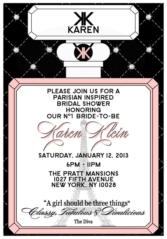 Chanel inspired bridal shower invitations image collections chanel inspired bridal shower invitations images invitation chanel inspired bridal shower invitations gallery invitation chanel inspired filmwisefo