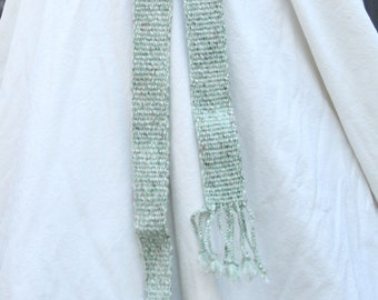 Green Speckled Belt - Handwoven Inkle Sash