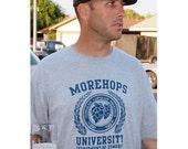 Morehops University - Craft Beer Festival Hophead T-Shirt - Oktoberfest Birthday Christmas Gift