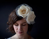 Ivory Roses with Ivory Tulle