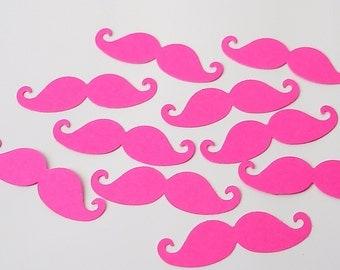50 Hot Pink Fuchsia Mustache punch die cut scrapbooking embellishments - No605