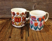 Floral Mugs, Coffee Cup