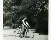 "Vintage Photo ""Bicycle Ride"", Photography, Paper Ephemera, Snapshot, Old Photo, Collectibles - 0206"