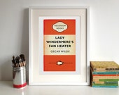 Lady Windermere's Fan Heater Poster Print by Oscar Wilde Recession Books Literary Print