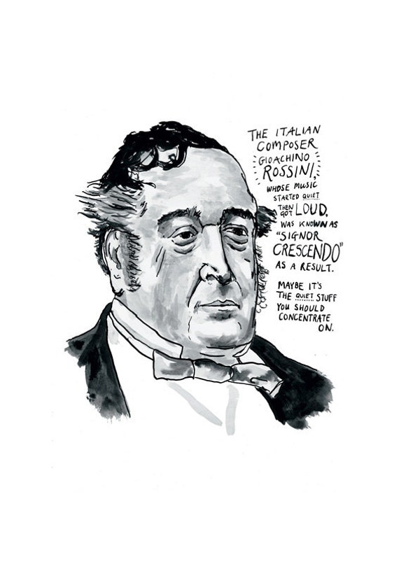 Gioachino Rossini Poster Print Italian Classical Music Composer