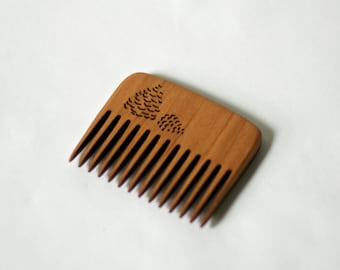 Wood Pocket Comb - Pine Cone