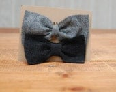 Black and Heather Grey 2pk Simple Felt BOW HAIR CLIPS- Hair Accessories-Hair Fascinators-Hair Flare by The Accessories Nook