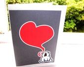 Show your love with a polar bear - Valentine love card