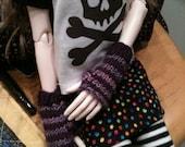 Knitting Pattern - Handknit Fingerless Gloves for BJD - MSD sized