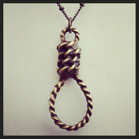 Hangman's Noose Horror Charm Necklace Walk by diamondstarhaloATL