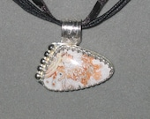 Laguna Lace Agate, Sterling Silver Pendant, ON SALE