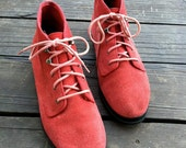ON HOLD Vintage Red Suede Keds Boots (women's 9.5)