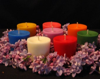 Hand Crafted Unscented Soy Votive Candles