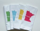 I Love Minnesota, Set of Four Napkins- Set of FOUR