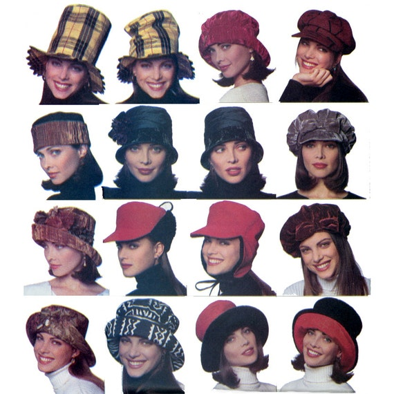 Hats and Accessories Pattern Butterick 3664 Misses Faux Fur Hats Muff Gloves and Scarves Womens Sewing Pattern UNCUT