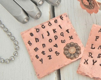 2mm LOWERCASE Aras Font Letter Punch Set - Steel Alphabet Letter Punch Stamp Set - Metal Stamps for Hand Stamped Jewlery
