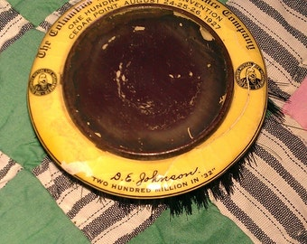 Vintage 1927 Columbus Mutual Life Insurance Advertising Brush Mirror