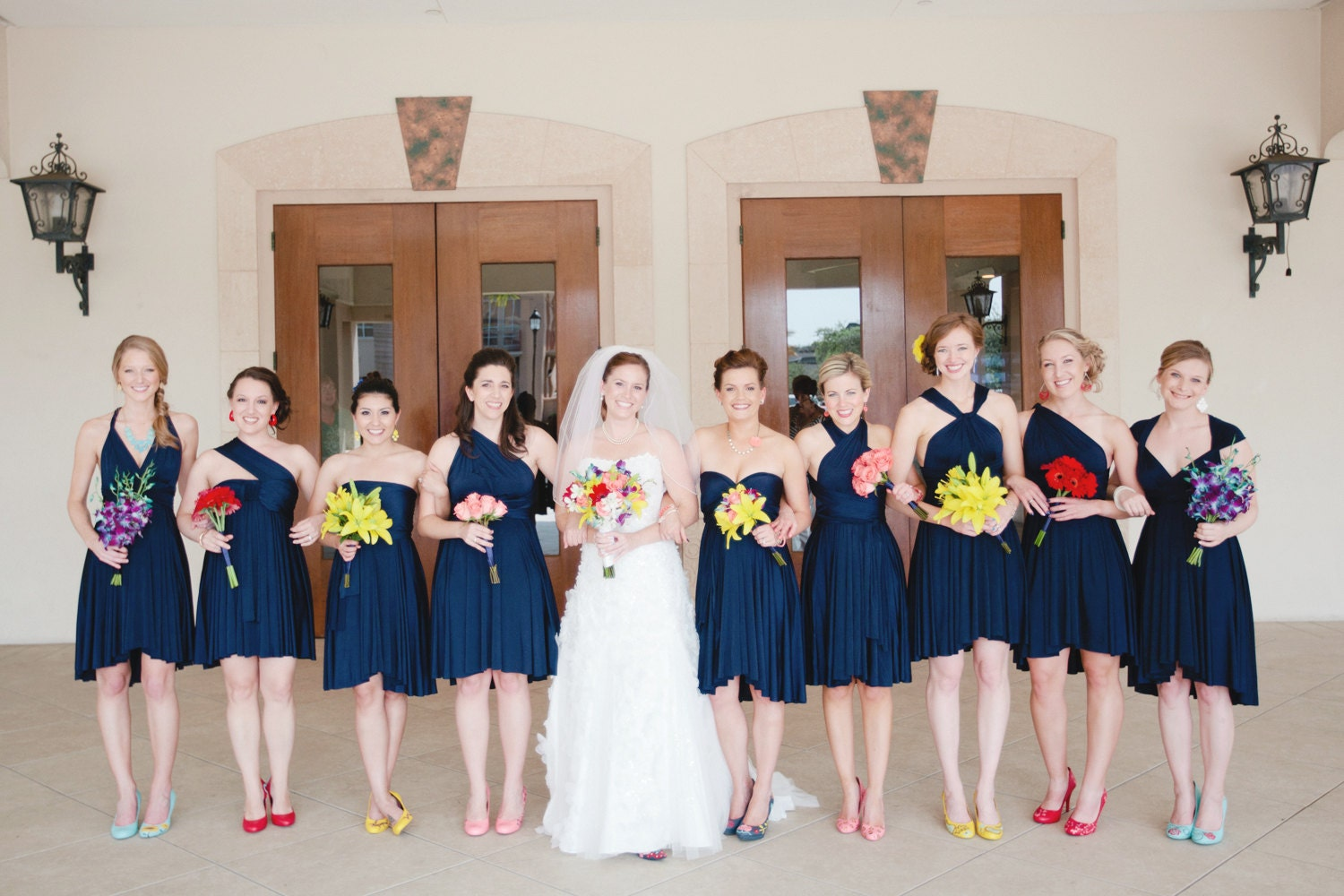 Navy bridesmaid dresses zoom ombrellifo Images