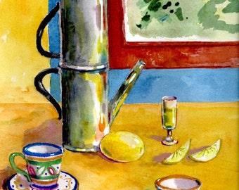 Italian Cafe with Lemon