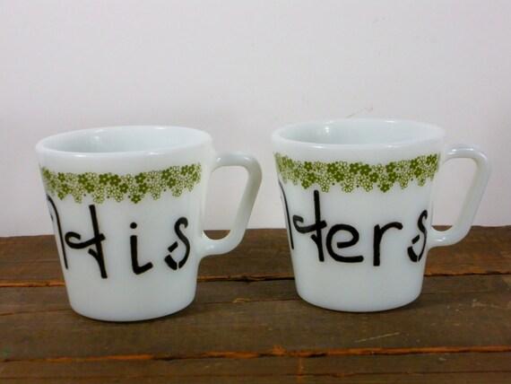 his and hers coffee mugs couples coffee mug set cute. Black Bedroom Furniture Sets. Home Design Ideas