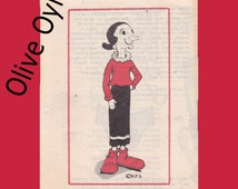 Olive Oyl 18 inch doll sewing pattern uncut mail Order 834