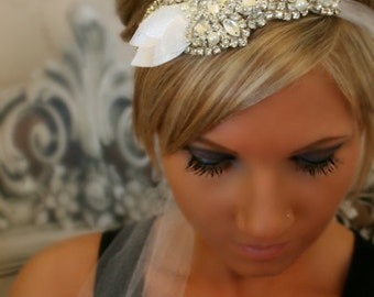 Bridal Headband, ISABELLA, wedding headpiece, Bridal Hair Piece, Wedding Headband, Pearl Headband