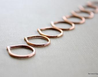 Jewelry Findings Teardrop Connector Links Handmade Craft Supplies (8)