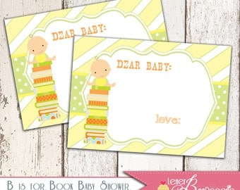 B is for Baby Book Shower Bookplate - DIY Printable File