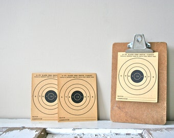 Instant Collection of 3 Vintage 1950s Paper Shooting Targets