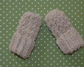 Thumbless Baby Mittens Natural Alpaca Cream up to 18 months eco friendly