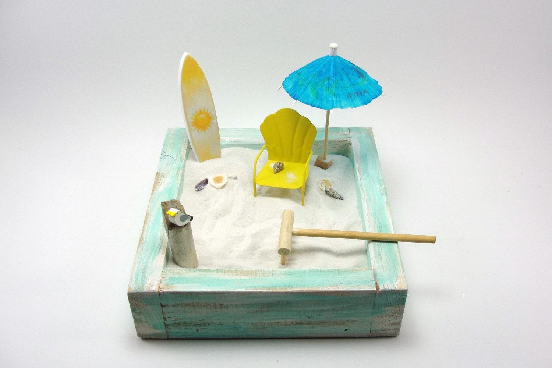 Miniature Zen Beach Garden Kit Shell Back Beach Chair