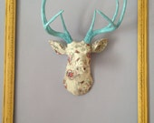 Custom Fabric Deer Head - Choose your Own Fabric and Antler Color