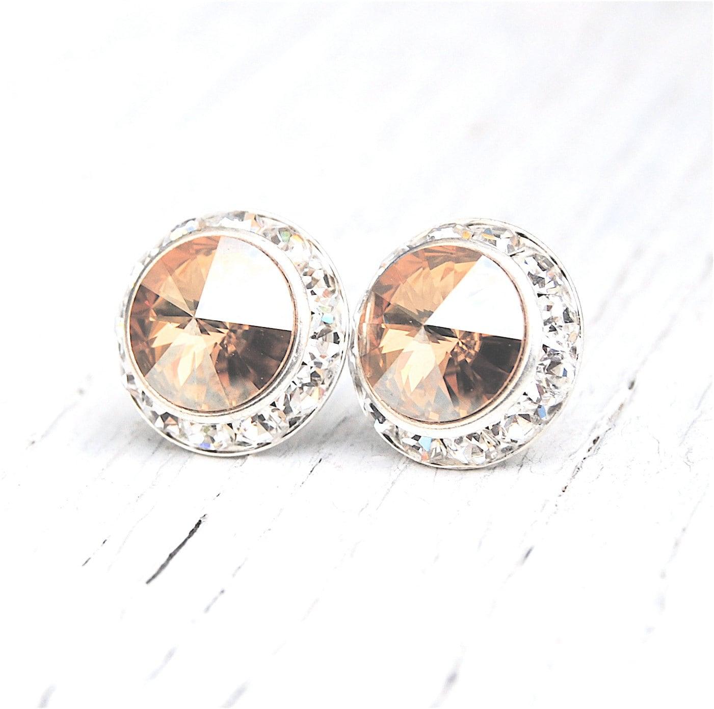 champagne diamond mist earrings diamond rhinestone earrings. Black Bedroom Furniture Sets. Home Design Ideas