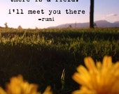 Field Photograph with Rumi Quote