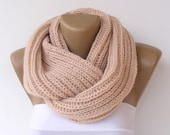 Chunky Scarf Women Knit Infinity Scarf Men Chunky Cowl Scarf Winter Scarf Fashion Accessories Christmas Gifts Holiday  Fashion senoaccessory