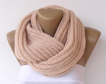 ON SALE // Chunky Scarf Women Knit Infinity Scarf Men Chunky Cowl Scarf Winter Scarf Fashion Accessories Gifts Fashion senoaccessory