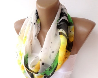 CHRISTMAS, HOLIDAY GIFT, Gifts For Her, Gifts For Women Fashion Scarf , chiffon scarf Infinity Scarf Women Fashion Accessories senoaccessory