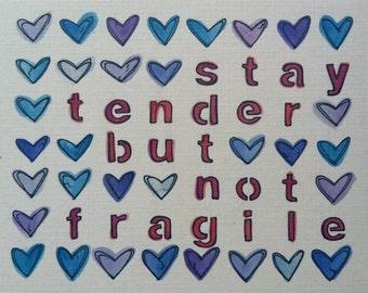 Postcard- Stay Tender (Set of 10)