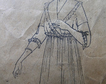 Fabulous ANTIQUE Vintage Early 1900's Misses' NEGLIGEE PATTERN