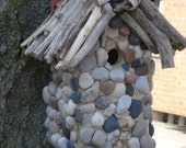 Decorative Stone Hut Birdhouse