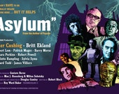 "Amicus Films - Asylum - Movie Poster - 17 x 11"" Digital Print"