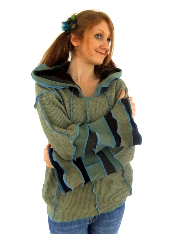 Earth Hippie pixie hoodie - XXL XXXL - Ready to Ship