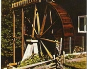 Vintage Postcard Historic Red Mill Waupaca Wisconsin 80s