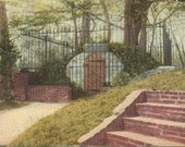 Antique Postcard - The Old Tomb Mt Vernon - The original tomb that Washington was laid to rest in - 1913