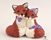Fox in Love Custom Wedding Cake Topper