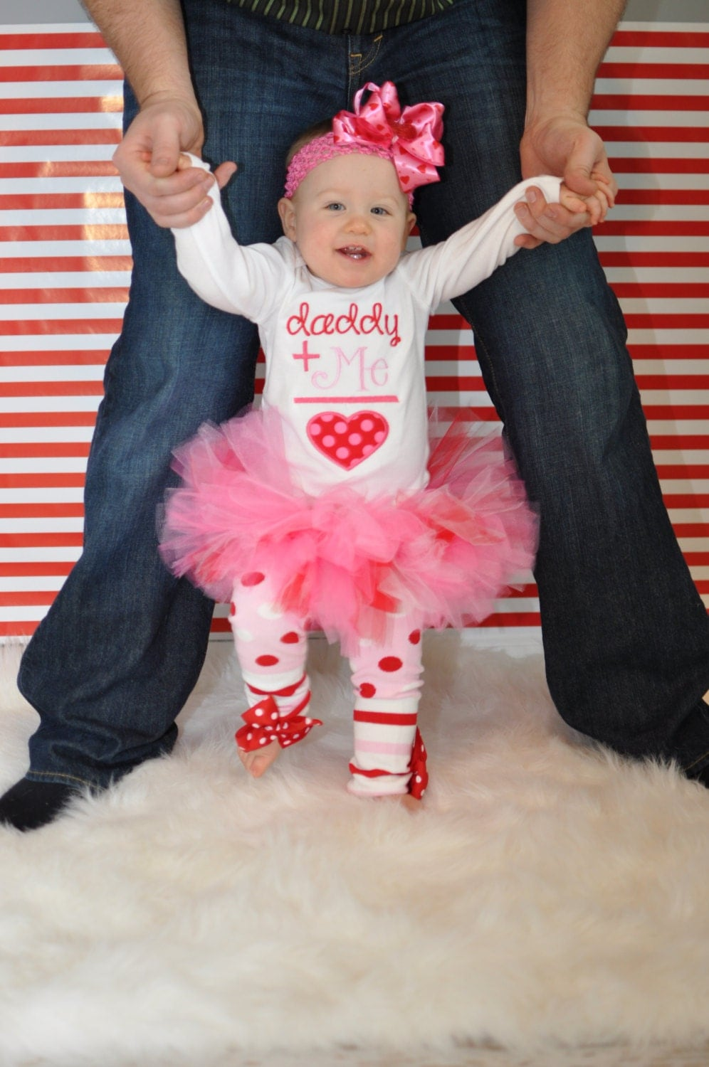 Baby Girl Tutu Outfit Daddys Girl Pink And Red