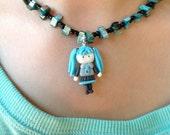 Hatsune Miku cold porcelain necklace - Vocaloid